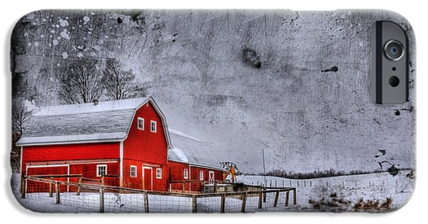Old Barns iPhone Cases - Rural Textures iPhone Case by Evelina Kremsdorf