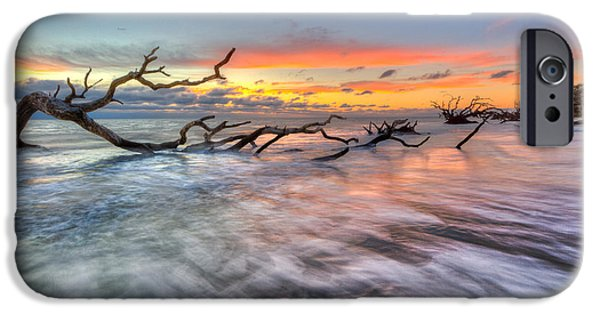 Tidal Photographs iPhone Cases - Rush iPhone Case by Debra and Dave Vanderlaan