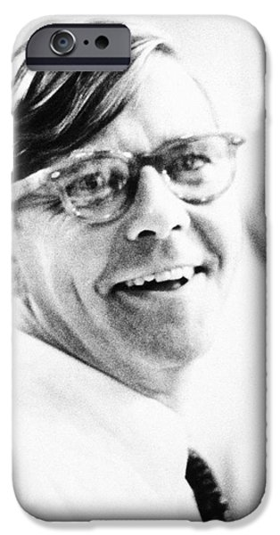 1950s Portraits iPhone Cases - Russell Baker (1925- ) iPhone Case by Granger