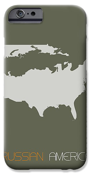 Patriotism iPhone Cases - Russian America Poster iPhone Case by Naxart Studio