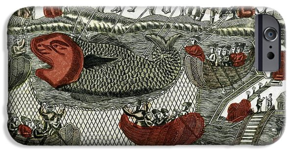 Caption iPhone Cases - Russian Whaling, 1760 iPhone Case by Ria Novosti
