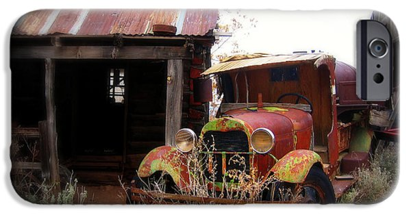 House Art Photographs iPhone Cases - Rusted classic iPhone Case by Perry Webster