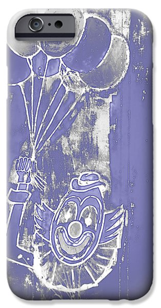 Rural Decay Digital Art iPhone Cases - Rustic Clown iPhone Case by Melany Sarafis