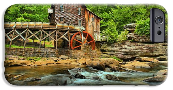 Grist Mill iPhone Cases - Rustic Grist Mill iPhone Case by Adam Jewell