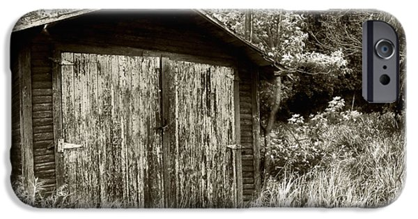 Shed iPhone Cases - Rustic Shed iPhone Case by Perry Webster