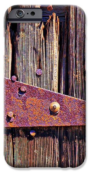 Rusty barn door hinge  iPhone Case by Garry Gay