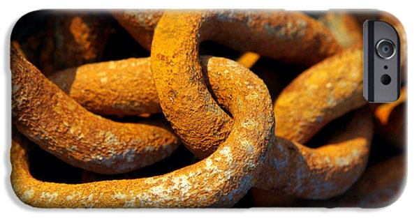 Best Sellers -  - Bonding iPhone Cases - Rusty Chain iPhone Case by Carlos Caetano