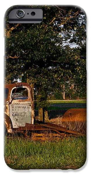 Rusty Truck and Tank iPhone Case by Douglas Barnett