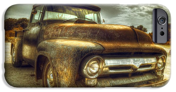Rust Photographs iPhone Cases - Rusty Truck iPhone Case by Mal Bray