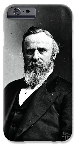 Nineteenth iPhone Cases - Rutherford B. Hayes, 19th American iPhone Case by Photo Researchers
