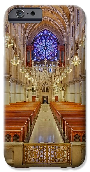 America iPhone Cases - Sacred Heart Cathedral Basilica iPhone Case by Susan Candelario
