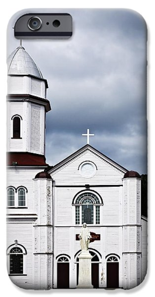 Sacred Heart Church in Placentia Newfoundland iPhone Case by Elena Elisseeva