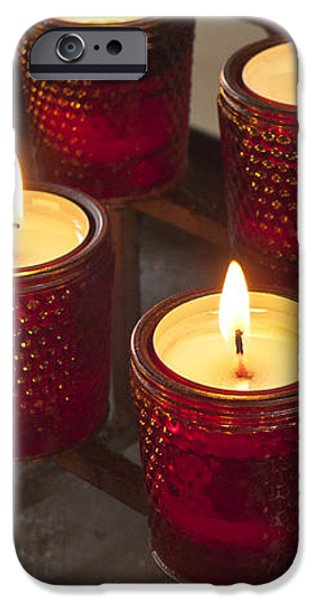 Sacrificial Candles iPhone Case by Heiko Koehrer-Wagner