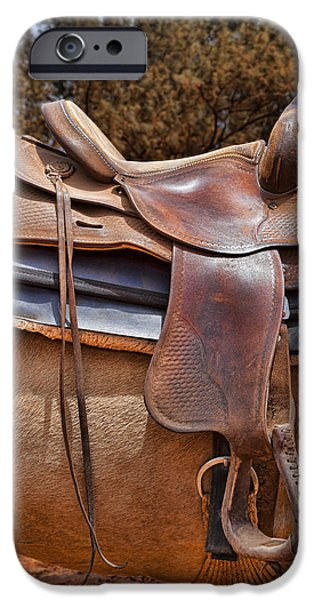 Worn Leather iPhone Cases - Saddle Up iPhone Case by Kelley King