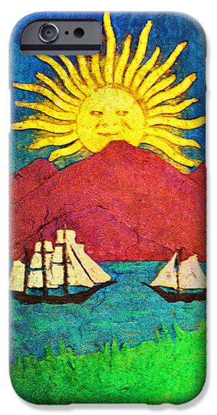 Sailboat Mixed Media iPhone Cases - Safe Harbor iPhone Case by Bill Cannon