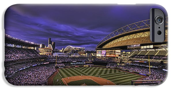 Baseball Stadiums iPhone Cases - Safeco Field iPhone Case by Dan McManus