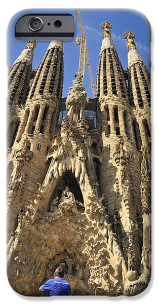 Spanien iPhone Cases - Sagrada Familia Barcelona Spain iPhone Case by Matthias Hauser