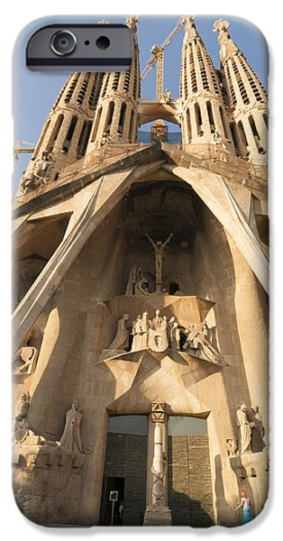 Sagrada Familia church in Barcelona Antoni Gaudi iPhone Case by Matthias Hauser