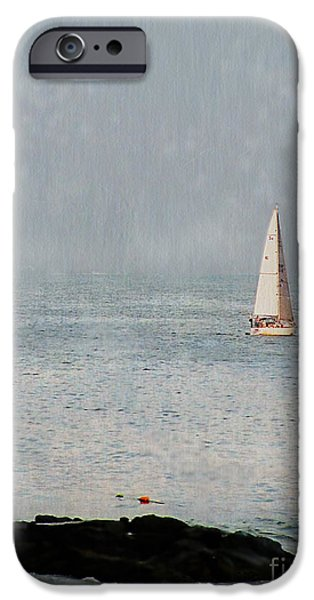 Sailboat Ocean Photographs iPhone Cases - Sail Away iPhone Case by Colleen Kammerer