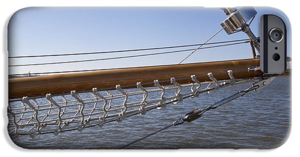 Sailboat iPhone Cases - Sailboat Bowsprit iPhone Case by Dustin K Ryan