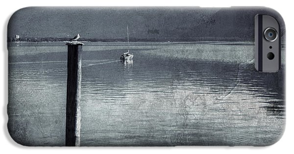 Sailboats iPhone Cases - Sailboat on Lake Maggiore iPhone Case by Joana Kruse