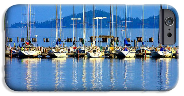 Sailing Photographs iPhone Cases - Sailboats Reflections iPhone Case by Karon Melillo DeVega