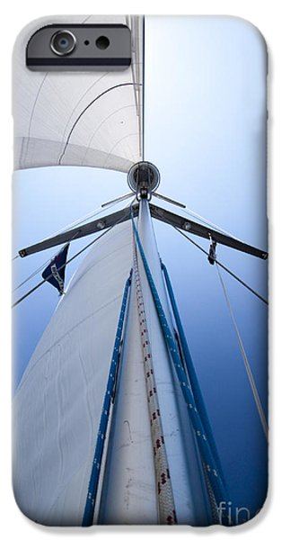 Sailing Photographs iPhone Cases - Sailing iPhone Case by Dustin K Ryan