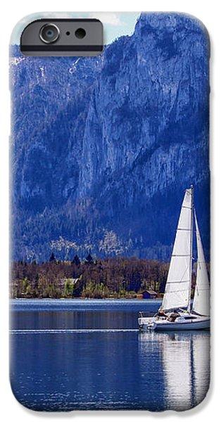 Sailing on Mondsee Lake iPhone Case by Lauri Novak