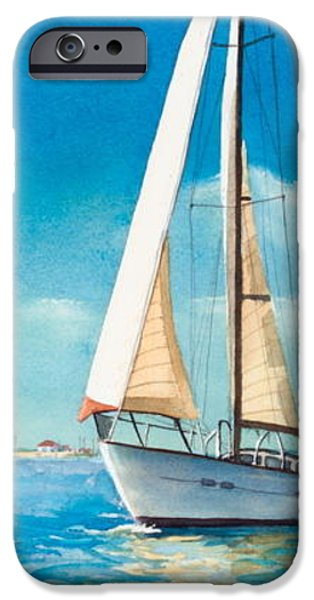 Sailing Through the Gut iPhone Case by Laura Lee Zanghetti