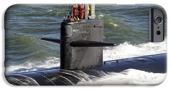 Con iPhone Cases - Sailors Aboard The Attack Submarine Uss iPhone Case by Stocktrek Images