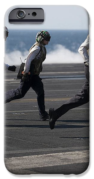 Sailors Clear The Landing Area iPhone Case by Stocktrek Images
