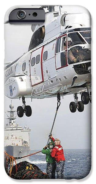 Sailors Hook Up A Pole Pendant iPhone Case by Stocktrek Images