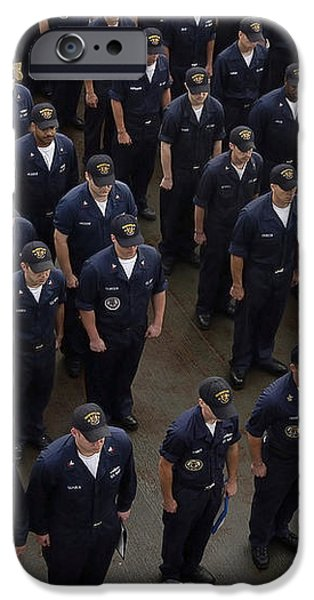 Sailors Stand At Attention During An iPhone Case by Stocktrek Images