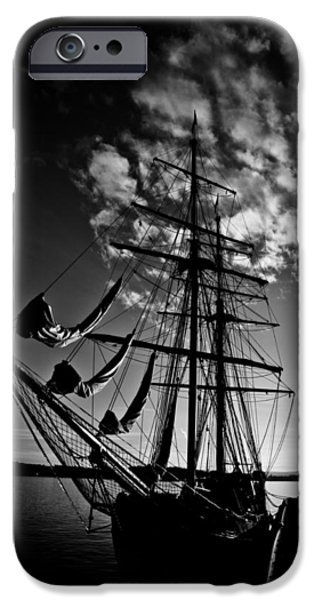 Norwegian Sunset iPhone Cases - Sails in the Sunset iPhone Case by Hakon Soreide