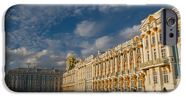 Russian Cross iPhone Cases - Saint Catherine Palace iPhone Case by David Smith