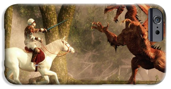 Saint George And The Dragon iPhone Case by Daniel Eskridge