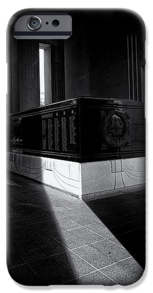 Saint Louis Soldiers Memorial Black and White iPhone Case by Joshua House