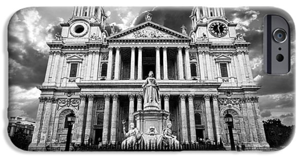Religious Icon iPhone Cases - Saint Pauls Cathedral iPhone Case by Meirion Matthias