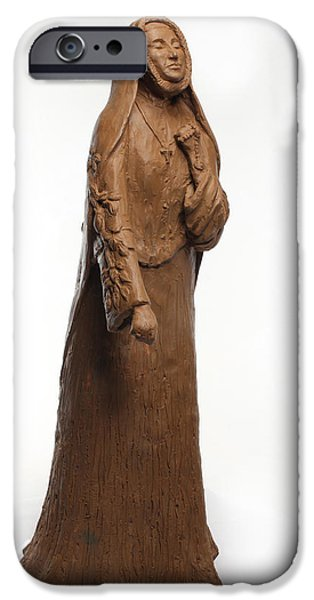 Person Sculptures iPhone Cases - Saint Rose Philippine Duchesne iPhone Case by Adam Long