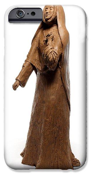 Jesus Sculptures iPhone Cases - Saint Rose Philippine Duchesne sculpture iPhone Case by Adam Long