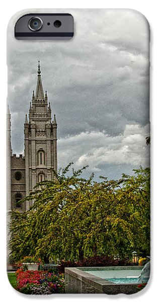 Salt Lake City Temple Grounds iPhone Case by La Rae  Roberts