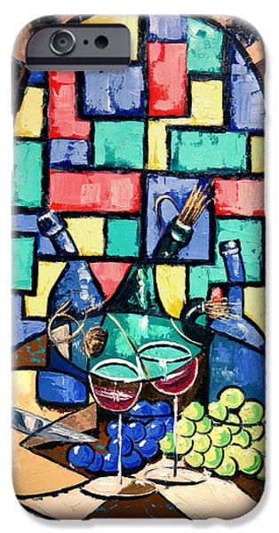 Table Wine iPhone Cases - Salute Happy Hour In Tuscany iPhone Case by Anthony Falbo