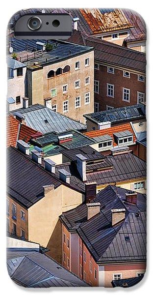Salzburg's Roofs Austria Europe iPhone Case by Sabine Jacobs