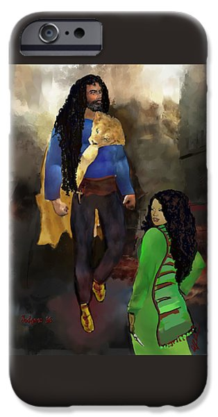 Justice League iPhone Cases - Sampson and Delilah iPhone Case by Donna Johnson