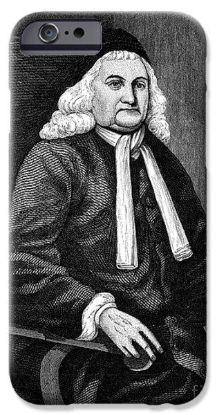 SAMUEL SEWALL (1652-1730) iPhone Case by Granger