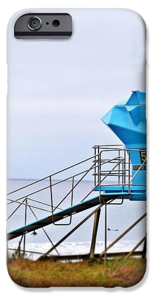 San Clemente State Beach Lifeguard Tower 5 iPhone Case by Traci Lehman