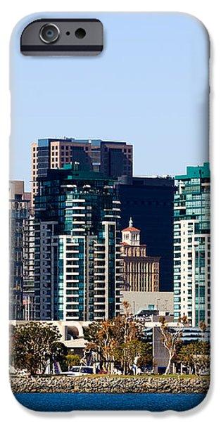San Diego California Skyline iPhone Case by Paul Velgos