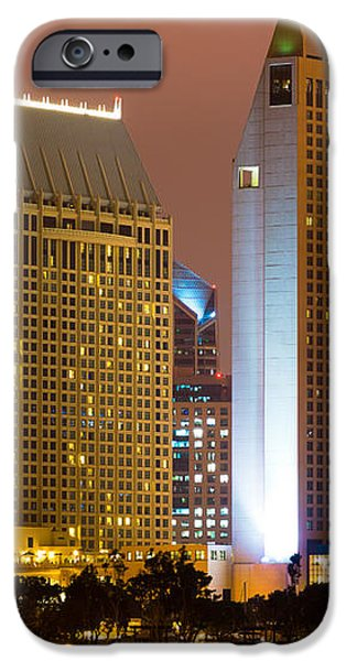 San Diego City at Night iPhone Case by Paul Velgos