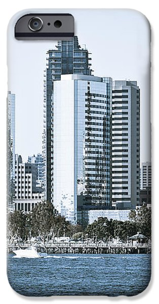 San Diego Downtown Waterfront Buildings iPhone Case by Paul Velgos