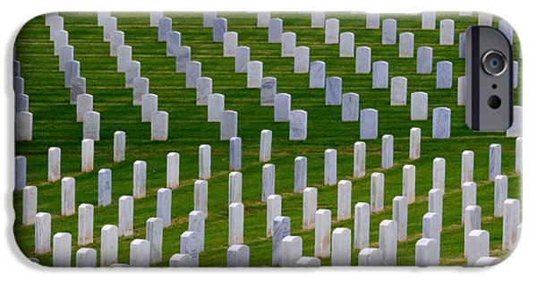 Cemetary iPhone Cases - San Diego Military Memorial 1 iPhone Case by Bob Christopher